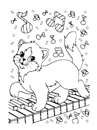 Lisa Frank Kitty Coloring Page