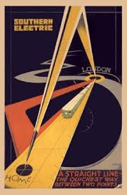 Keywords Southern Railway Electric Poster Advert 1931 Art Deco Patrick Keely