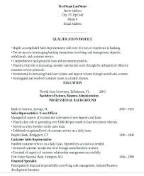 Sample Resume Of Retail Banking With Sales