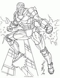 Ironman Coloring Pages For Kids Az Iron Man