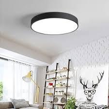 natsen 24w led deckenleuchte ultra dünn deckenle rund warmweiß 3000k für küche dieler schlafzimmer schwarz