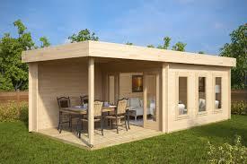 100 Modern Summer House Contemporary Garden With Veranda Jacob E 12m 44mm 7 X 3 M
