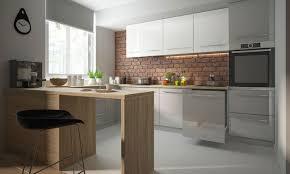u form küchenzeile essen einbauküche 90x270x280cm grau front grau weiß acryl hochglanz