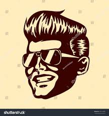 vintage retro cool dude man face stock vector 359172488 shutterstock