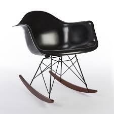 Black 2014 Herman Miller Eames RAR Rocking Arm Chairs In Very Good Condition Black 2014 Herman Miller Eames Rar Rocking Arm Chairs In Very Good Cdition White Rocking Chair Charles Ray Eames And For Vintage Brown By C Frank Landau For Sale Rope Edge Chair 1950s Midcentury Modern Rar A Pair 1948 Retro Obsessions