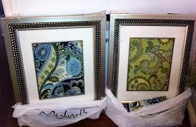 DIY Framed Fabric As Art