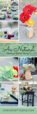 Au Naturel Outdoor Bridal Shower Via Karas Party Ideas