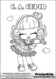 This Printable Colouring Sheet Show A Cute Baby Or Chibi Version Of Rochelle Goyle That Is