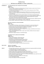 Download Quality Assurance Engineer Resume Sample As Image File