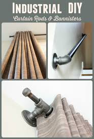 Industrial Decor With Black Iron Pipe Part II How To Create Curtain Rods Sequel Post Creating Other Fixtures