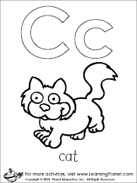 Letters Coloring Page