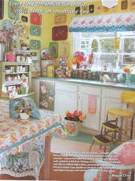 Very Busy But Cheerful Vintage Inspired Kitchen