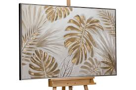 acryl gemälde unter palmen 122x82cm bilder leinwand