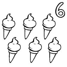 Ice Creams And Number 6 Coloring Page