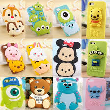New Cute 3D Cartoon Disney Silicone Rubber Soft Case for iPhone 6