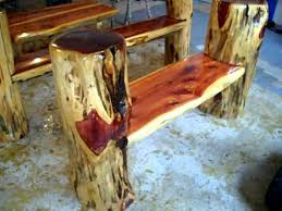 Rustic Log Benches Making Frontier Furniture In Backyard