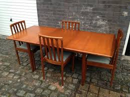 Vintage 60s 70s Meredew Extending Dining Table Chairs Teak Mid Century Retro