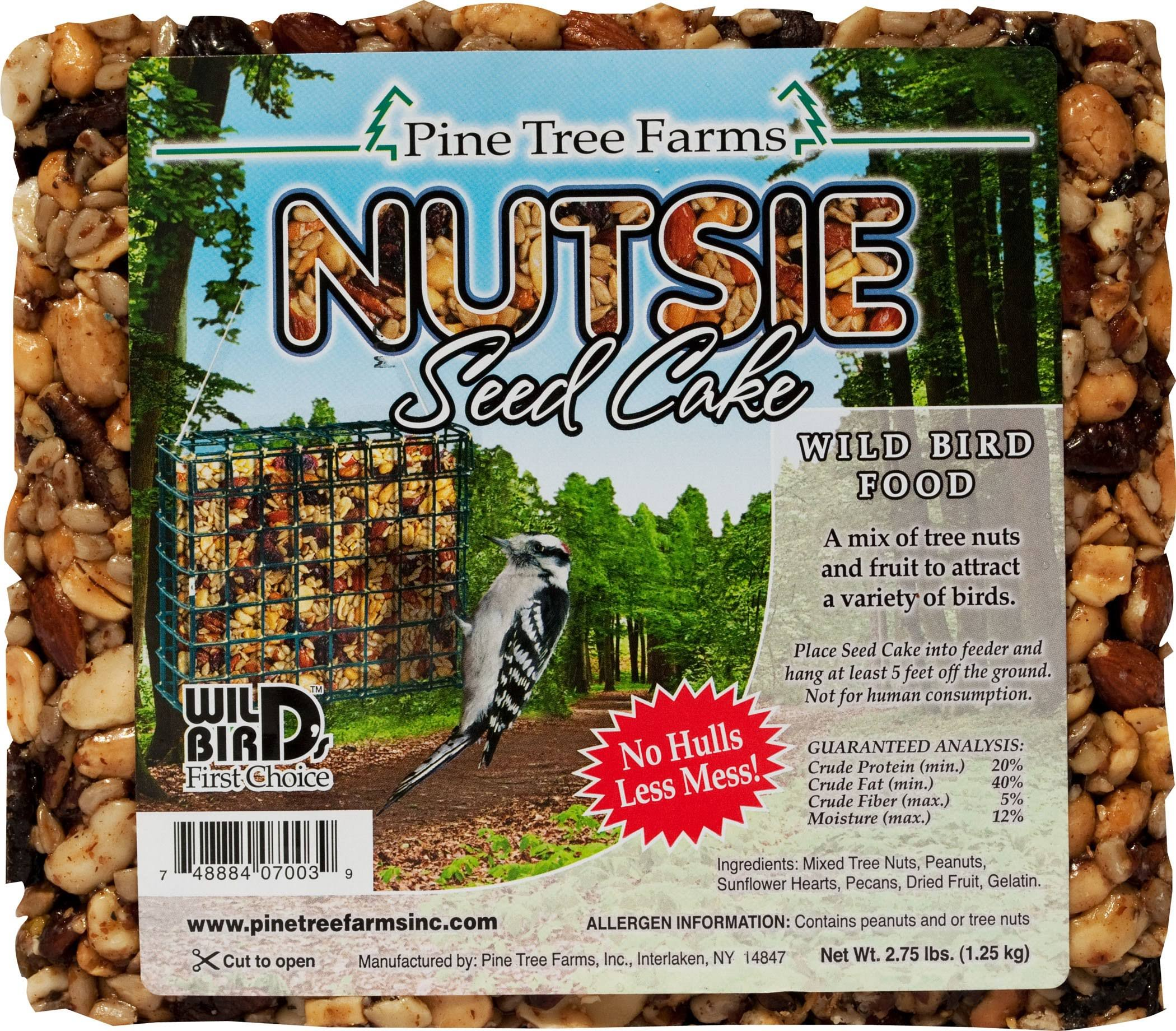 Pine Tree Farms Nutsie Cake Bird Food - 2.75 lb