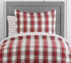 Organic Flannel Tartan Plaid Duvet Cover