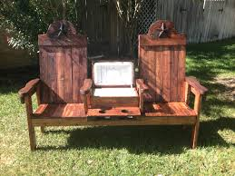 Squirrel Feeder Adirondack Chair by Texasoutbackfurniture Com Cedar Cooler Bench For Two Woodworking