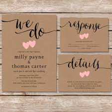 Lovely Vintage Kraft Paper Wedding Invitations Ideas