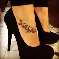 Walking By Faith Foot Tattoos