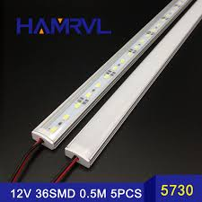 led bar lights 50cm 5730 rigid kitchen led light bar 36leds