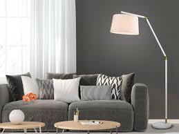 trio led stehle mit stoff lenschirm weiß große bogen le für über esstisch gebogen schöne stehende lesele wohnzimmer le kaufen