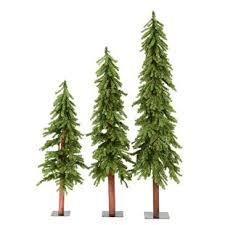 3 Piece Natural Alpine Artificial Christmas Tree Set