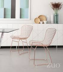 Zuo Modern Wire Dining Chair ( Set Of 2 - Rose Gold) - 100361 ... White Wire Diamond Ding Chair Fmi1157white The Home Depot Shop Poly And Bark Padget Eiffel Leg Set Of 2 Bottega Tower Ding Chair By Sohoconcept Luxemoderndesigncom Commercial Gold Leaf Shape Metal Chairgold Color Bellmont Bertoia Of Rose Harry Oster Black Project 62 In 2019 4 Wire Ding Chairs Black With Cushion 831 W Green Cushion Zuo Eurway Holly Reviews Joss Main Hashtag Bourquin Wayfair Simple Hollow For Living Room