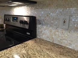 brick pearl shell tile kitchen backsplash renovation