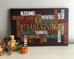 Thanksgiving Wood Sign Thankful Fall Home Decor Autumn