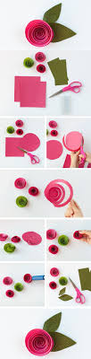 How To Do Rose Flower With Paper Diy Spiral And Decoration