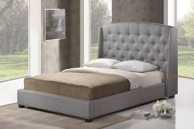 King Platform Bed With Tufted Headboard by Bedroom Gray Velvet Headboard Combined Tufted Footboard And
