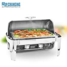9L Deluxe Oblong Roll Top Stainless Steel Chafing Dish Chafer Food Warmer