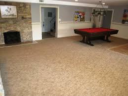 plush carpet tiles with padding for basement new home design