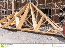 100 House Trusses Construction Roof Stock Image Image Of