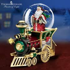 Thomas Kinkade Christmas Tree Train by Christmas Town Around The World Snow Globes