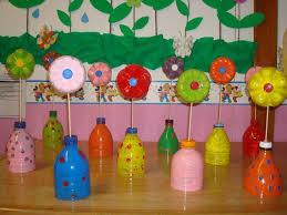 Flowers From Plastic Bottles In A Bottle Vase