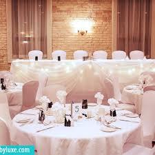 White Elegant Wedding Decor At Delta London Armouries Hotel In Ontario