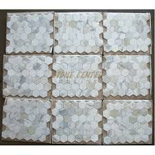 calacatta gold 2 inch hexagon mosaic tile polished marble from