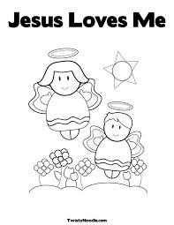 Jesus Loves Children Coloring Page AZ Pages