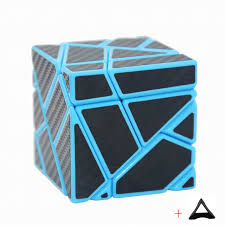 Fangcun 3x3 Ghost Cube Magic Puzzle Blue White Black Hollow Sticker Speed