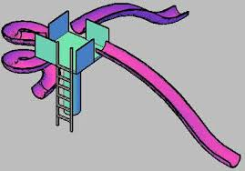 Childrens Slide For Playground Or Swimming Pool DWG Block AutoCAD O Designs CAD