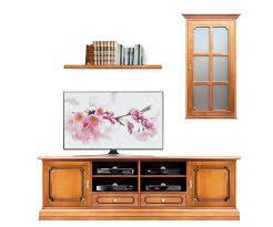 tv möbel vitrine brett für wohnwand im stil möbel klassisch aus holz tv anrichte hängevitrine 1 tür 1 brett für wohnzimmer drei möbel montiert