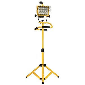 Power Zone Halogen Work Light with Short Tripod - 120V, 500W