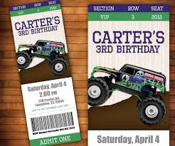 Monster Truck Birthday Invitation, Monster Jam Ticket, Boys Birthday ... Mr Vs 3rd Monster Truck Birthday Party Part Ii The Fun And Cake Monster Truck Food Labels Mrruck_party_invitions_mplatesjpg Unique Free Printable Grave Digger Invitations Gallery Marvelous Ideas At In A Box Cool Blue Card Truck Birthday Blaze The Machine Invitation On Design Of Jam Ticket Style Personalized 599 Sophisticated Photo Christmas Card