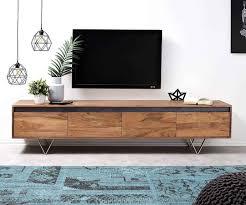 delife tv board stonegrace akazie natur 200 cm 4 schübe