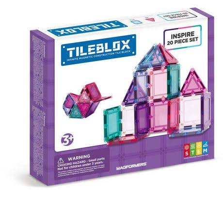 Magformers Tileblox Inspire Magnetic Building Blocks Set - 20pc
