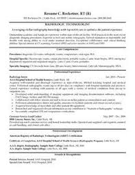 Resume Format For X Ray Technician